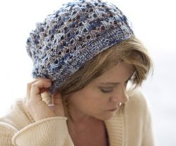 Ribbed Lacy Slouch