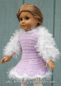 American Girl Doll Fur Shrug