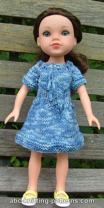 Knitting Patterns Galore Dells Drawstring Raglan Summer Dress