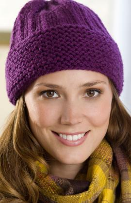 Easy Beanie Hat Knitting Pattern Free : Knitting Patterns Galore - Easy Cuffed Hat