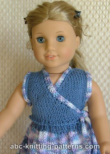Knitting Patterns Galore American Girl Doll Sleeveless Wrap Top