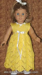 American Girl Doll Empire Waist Lace Dress