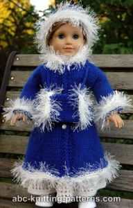 American Girl Doll Retro Winter Outfit (Coat, Hat and Muff)