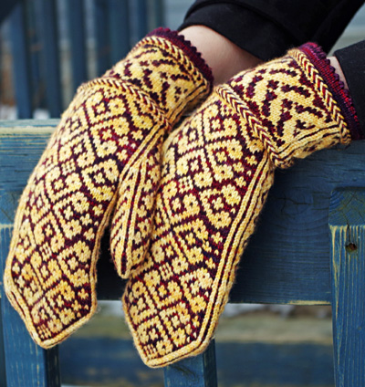 Knitting Pattern For Warm Mittens : Knitting Patterns Galore - Warm-Hearted Mittens