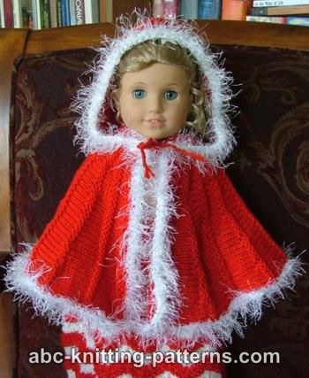 Knitting Patterns Galore American Girl Doll Cape With Hood