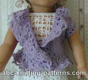 Knitting Patterns Galore - American Girl Doll Lacy Bolero
