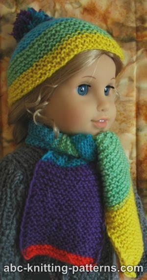 Knitting Patterns Galore American Girl Doll Garter Stitch Scarf