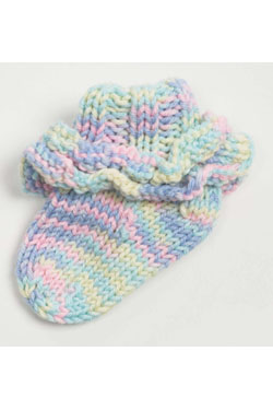 Knitting Patterns Galore Baby : Knitting Patterns Galore - Ruffled Baby Socks