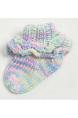 Knitting Patterns Galore Ruffled Baby Socks