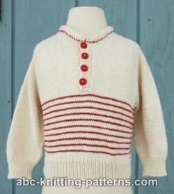 Raglan Cotton Baby Sweater with Stripes