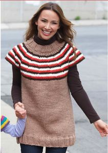 Striped Top-Down Pullover