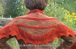 Small Leaf Border Shawl