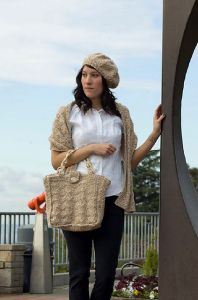 Alpaca Chunky Purse, Hat & Wrap