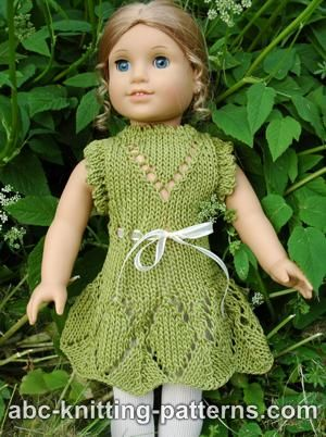 Knitting Patterns Galore American Girl Doll Summer Lace Dress