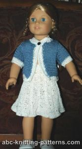 American Girl Doll Elegant Suit (Cardigan and Skirt)