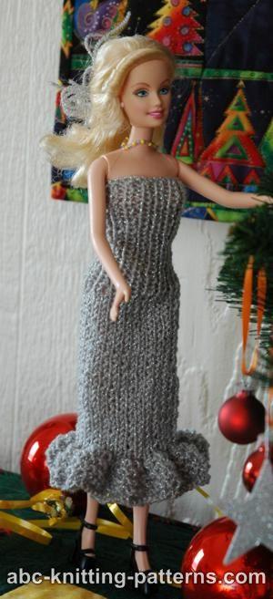 Knitting Patterns Galore Barbie Doll Evening Dress
