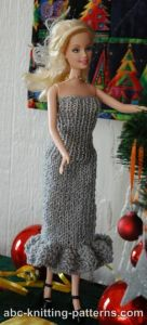 Barbie Doll Evening Dress