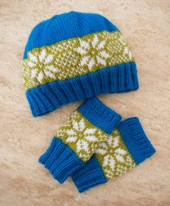 'Winter Star' Hat & Glove Set