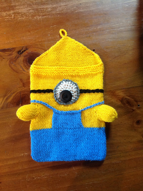 Knitting Patterns Galore Despicable Me Minion Ipad Cozy