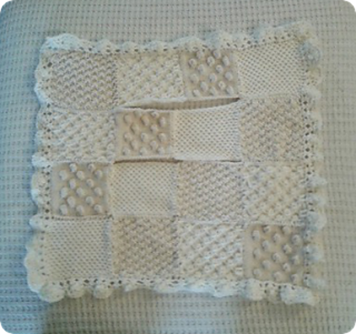 Knitting Patterns Galore Bobble Carseat Baby Blanket