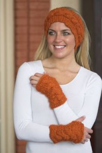 Cabled Headband & Mitts