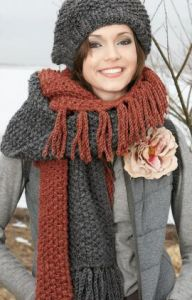Fringed Hat and Scarf