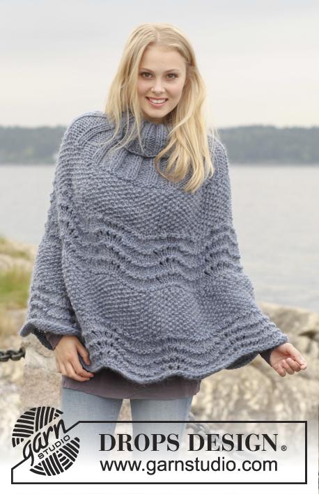 Knitting Pattern For Dk Poncho : Knitting Patterns Galore - Ronja