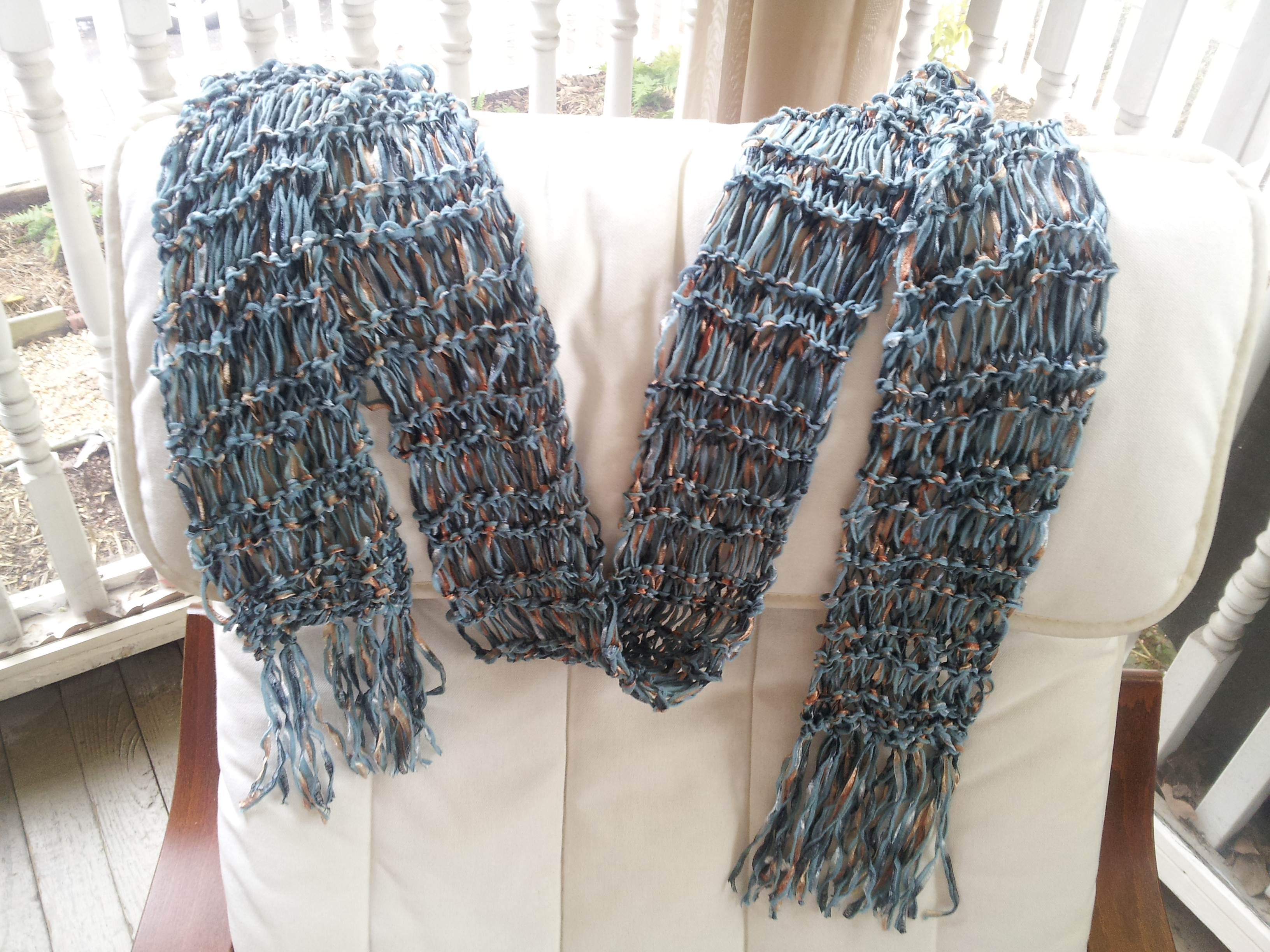 Free Knitting Pattern For Ribbon Scarf : Knitting Patterns Galore - Ribbon Scarf