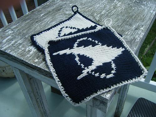 Knitting Patterns Galore Star Trek Pot Holders
