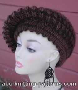 Fisherman's Rib Beret with Picot Brim