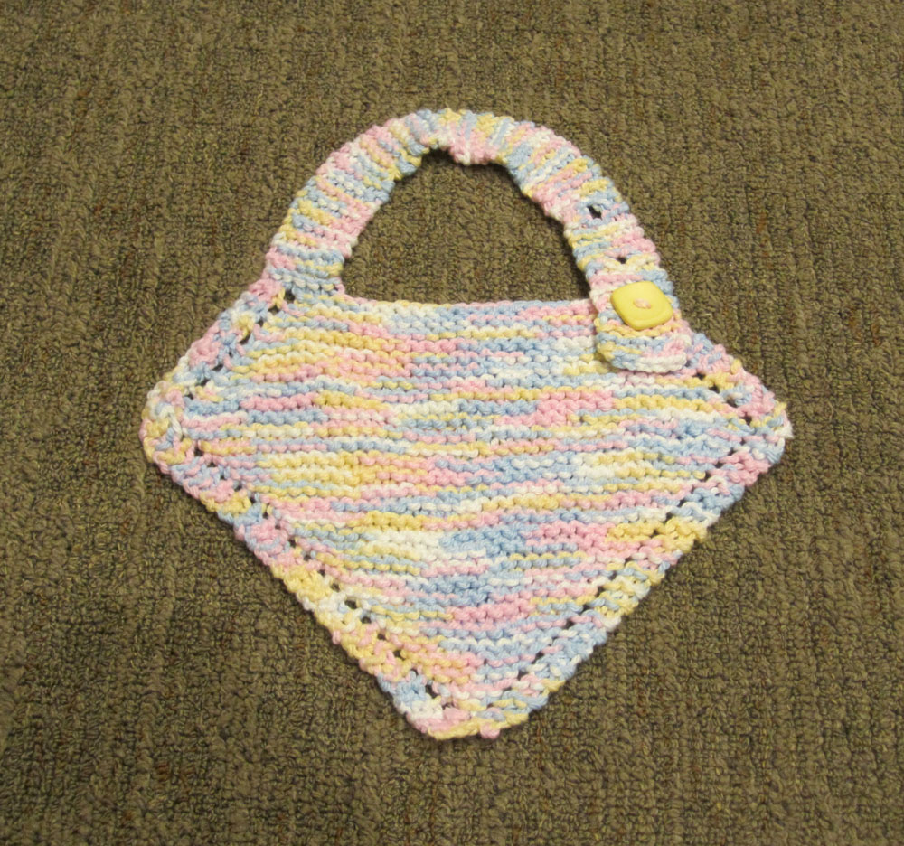 Knitting Patterns Galore Baby Bib