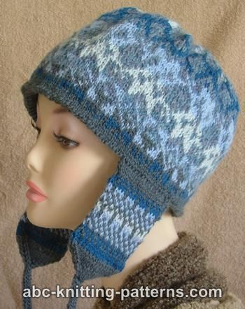 Knitting Patterns Galore - Fair Isle Earflap Hat