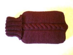 Rachael's ISBN Cabled Hot Water Bottle Cozy