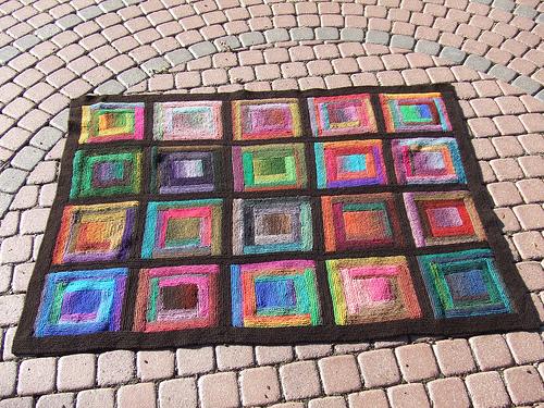Knitting Patterns Galore Paintbox Log Cabin Blanket