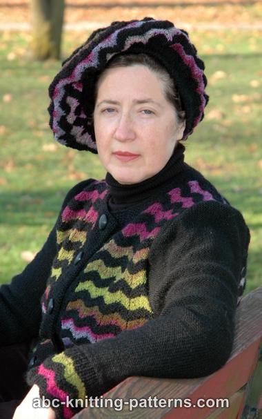 Knitting Patterns Galore Elegant Noro Yarn Beret