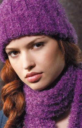 Knitting Patterns Galore - Ribbed Hat and Scarf 2253876c761