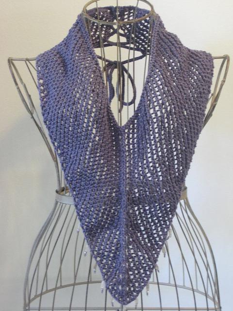 Knitting Patterns Galore V Neck Cowl