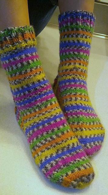 Knitting Patterns Galore Basic Top Down Sock For Kids