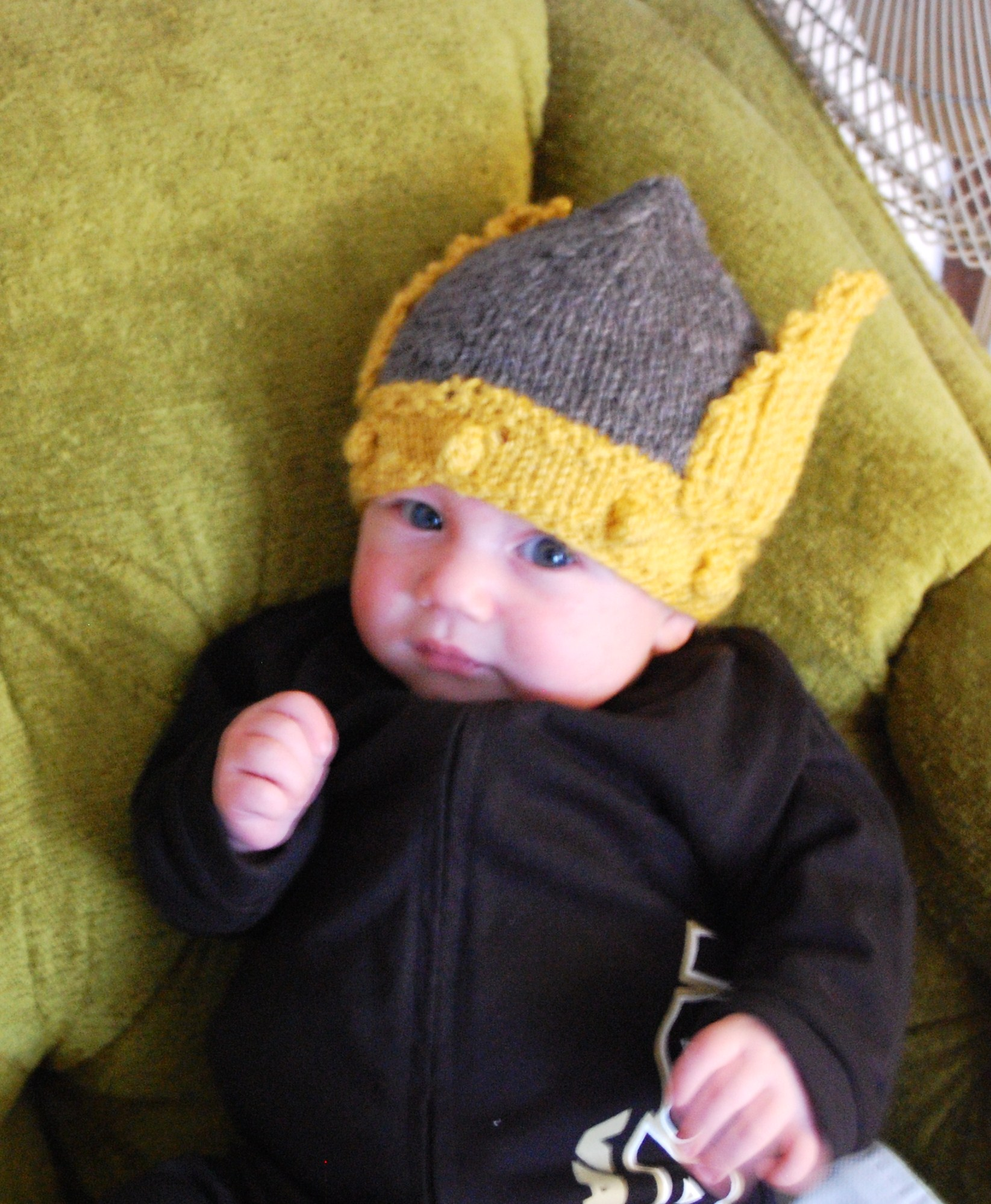 Knitting Patterns Galore - Vandal Helmet/Viking Hat