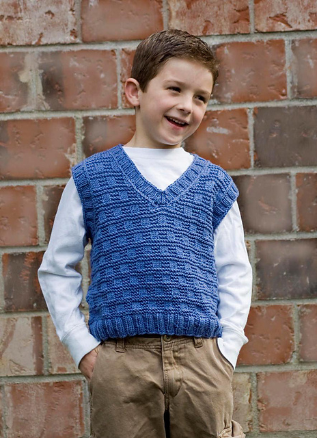 Knitting Patterns Galore Boys V Neck Vest