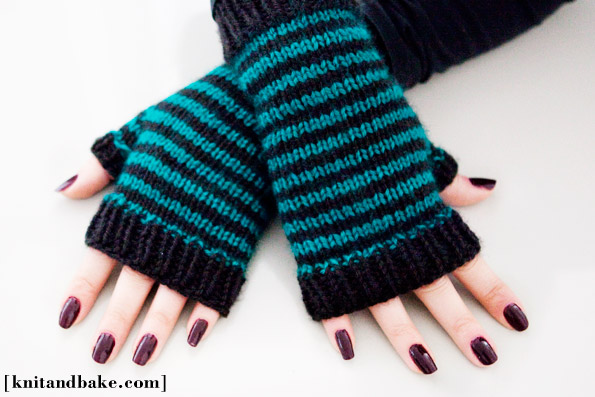 Knitting Patterns Galore Striped Fingerless Gloves