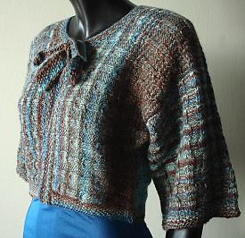 Free Knitting Pattern Cropped Jacket : Knitting Patterns Galore - Cropped Boxy Jacket