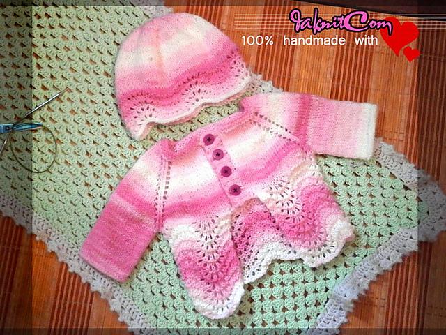 67e3256127f3 Knitting Patterns Galore - Sweet Old Shale Baby Cardigan