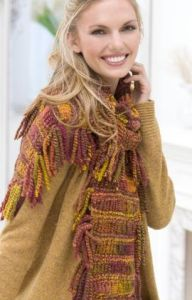Drop-stitch Tassel Scarf