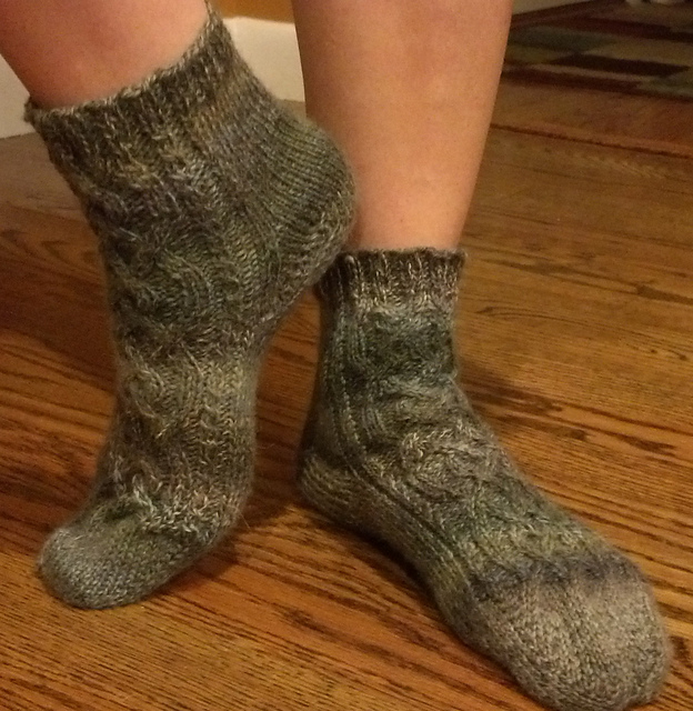 Knitting Patterns Galore Celtic Cable Toe Up Socks