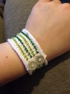 Striped Beaded Bracelet