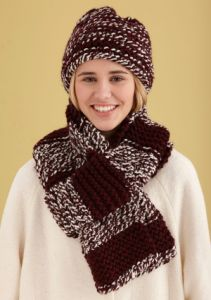 Simple Knit Hat and Scarf