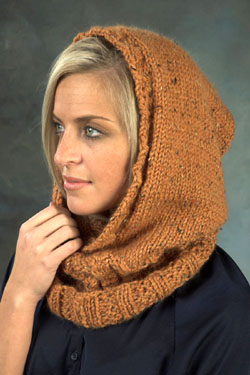 Knitting Patterns Galore Hooded Neckwarmer