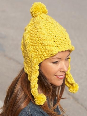 Earflap Hat Knitting Pattern Free : Knitting Patterns Galore - Golden Glow Earflap Hat