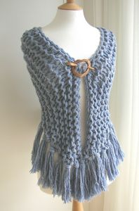 Denim Garter Stitch Shawl